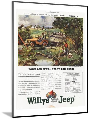 Willys Jeep - Born for War--Mounted Art Print