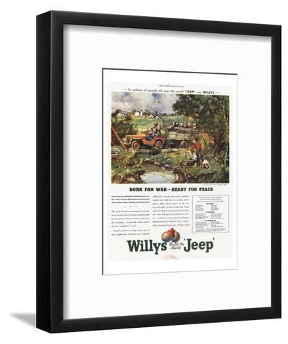Willys Jeep - Born for War--Framed Art Print