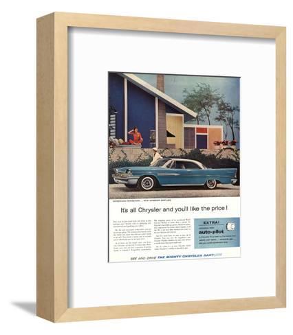 The Mighty Chrysler Dartline--Framed Art Print