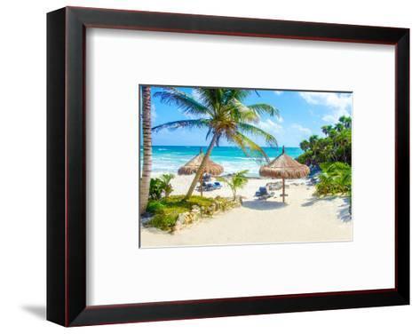 Tulum Beach Yucatan in Mexico--Framed Art Print