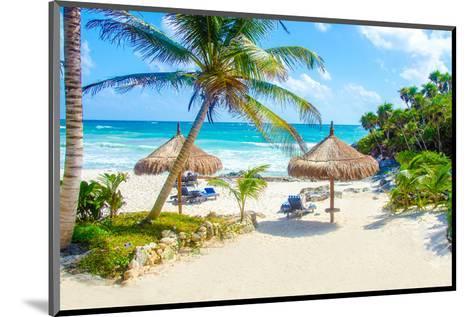 Tulum Beach Yucatan in Mexico--Mounted Art Print