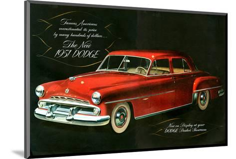 The New 1951 Dodge--Mounted Art Print