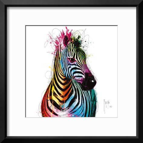 Zebra Pop Art Print by Patrice Murciano | Art.com
