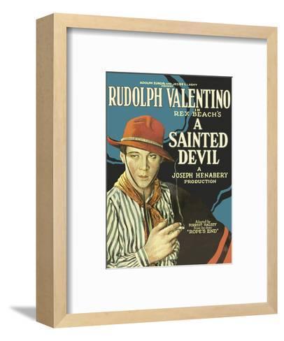 A Sainted Devil - Starring Rudolph Valentino--Framed Art Print