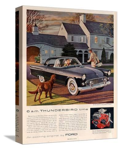 1955 6 A.M. Thunderbird Time--Stretched Canvas Print