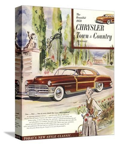 1950 Chrysler Town & Country--Stretched Canvas Print
