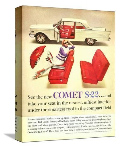 1961 Mercury-New Comet S-22--Stretched Canvas Print
