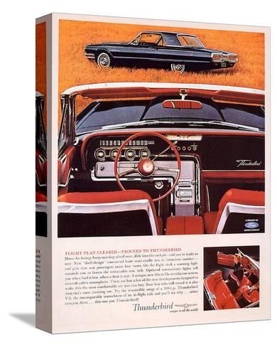 1964 Thunderbird - Flight Plan--Stretched Canvas Print