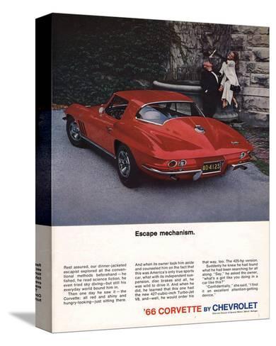 1966 Corvette Escape Mechanism--Stretched Canvas Print