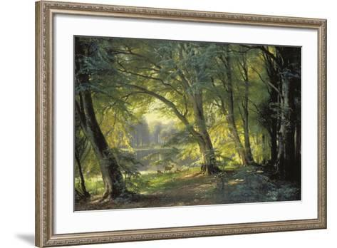 The Deer Park-Carl Frederic Aagaard-Framed Art Print