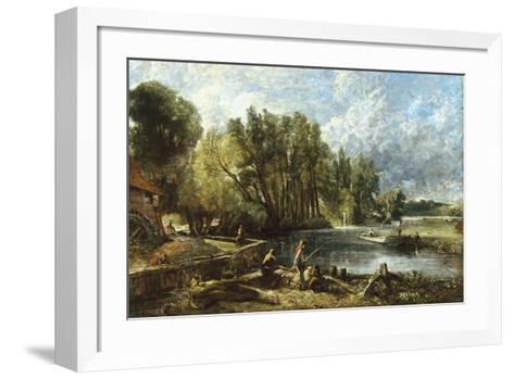 The Young Waltonians - Stratford Mill-John Constable-Framed Art Print