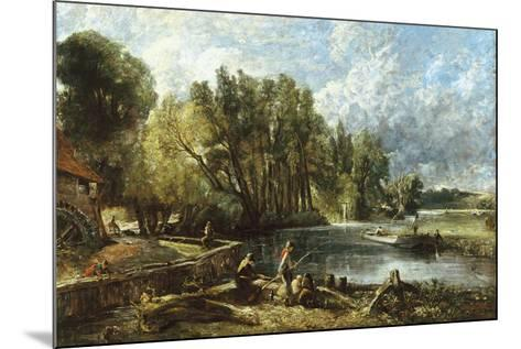 The Young Waltonians - Stratford Mill-John Constable-Mounted Giclee Print