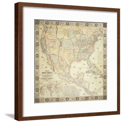 Map Of North America, 1853-Jacob Monk-Framed Art Print