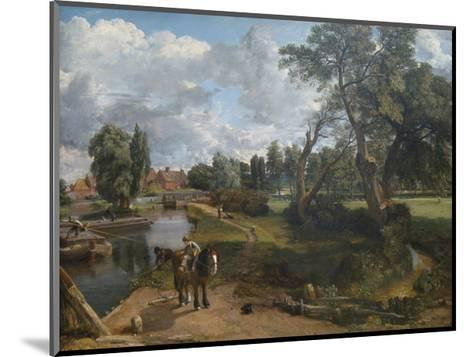 Flatford Mill (Scene on a Navigable River)-John Constable-Mounted Premium Giclee Print