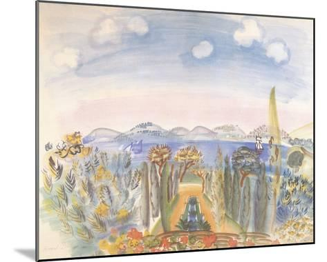 Baie des Anges, Nice-Raoul Dufy-Mounted Giclee Print