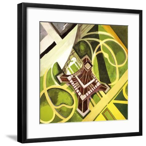 Tour Eiffel et Jardin du Champs de Mars, 1922-Robert Delaunay-Framed Art Print