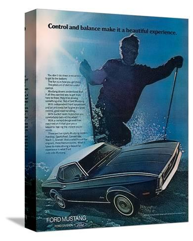 1972 Control & Balance Mustang--Stretched Canvas Print