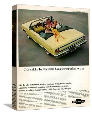 GM Chevy Chevelle Surprises--Stretched Canvas Print