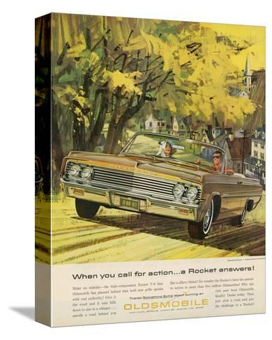 GM Oldsmobile-A Rocket Answers--Stretched Canvas Print