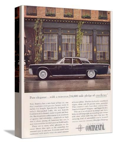 Lincoln 1961 Advanced Design--Stretched Canvas Print