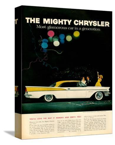 Mighty Chrysler Saratoga--Stretched Canvas Print