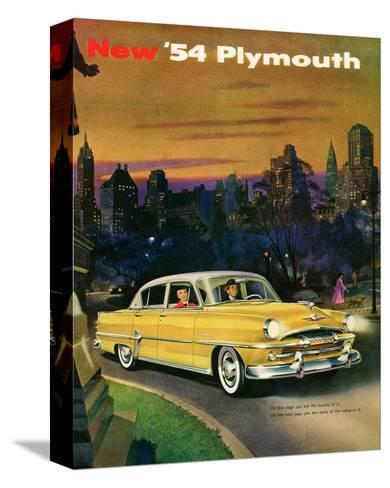 New '54 Plymouth--Stretched Canvas Print