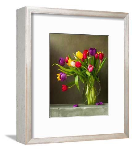 Colorful Tulips Still Life--Framed Art Print