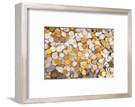 Coins Dollar Money Treasure--Framed Art Print