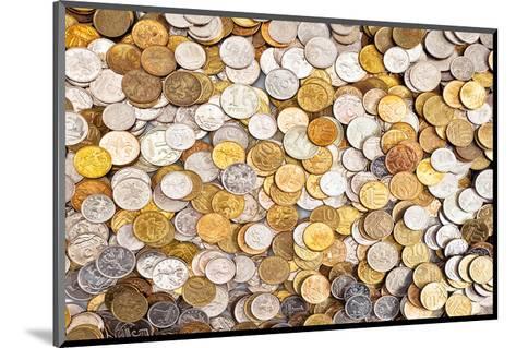 Coins Dollar Money Treasure--Mounted Art Print