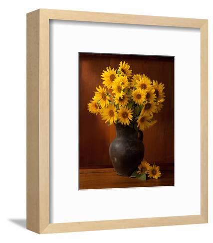 Clay Pot Sunflowers Still Life--Framed Art Print