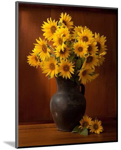 Clay Pot Sunflowers Still Life--Mounted Art Print