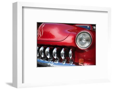 Red Car Grill and Headlight--Framed Art Print