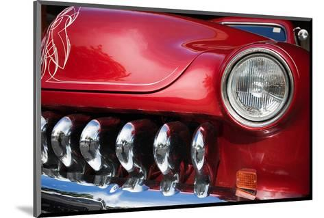 Red Car Grill and Headlight--Mounted Art Print