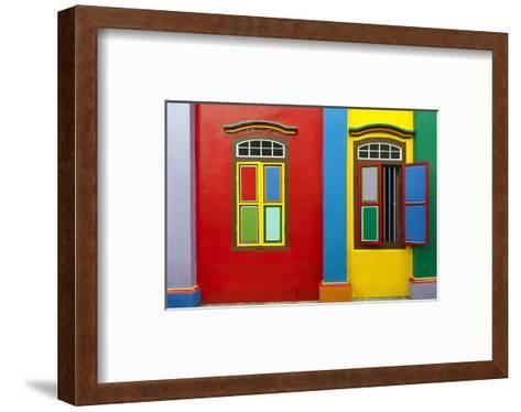 Colonial House in Singapore--Framed Art Print