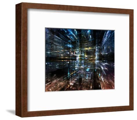 Three Demensional Light Grid--Framed Art Print