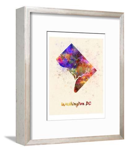 Washington Dc Splatter Skyline--Framed Art Print