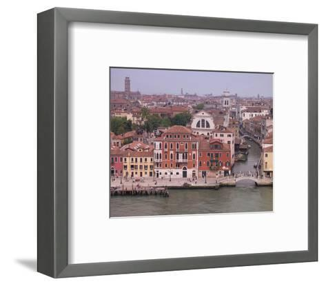 Viw of Venice Canal Houses--Framed Art Print