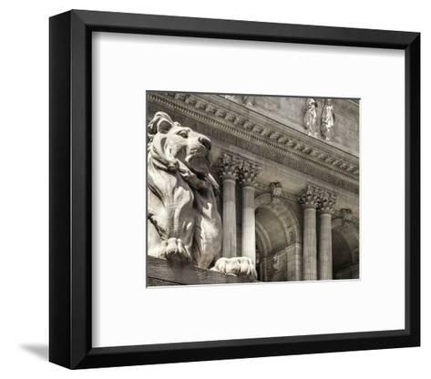 Patience Guarding the Library--Framed Art Print