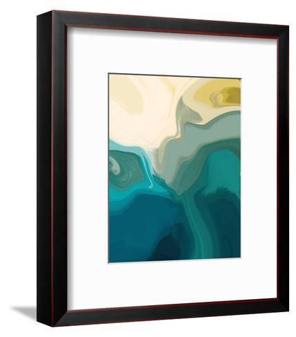 Gold and Greens I--Framed Art Print