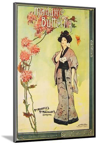 Puccini Opera Madame Butterfly--Mounted Art Print
