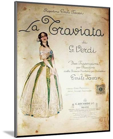 Verdi Opera La Traviata--Mounted Art Print