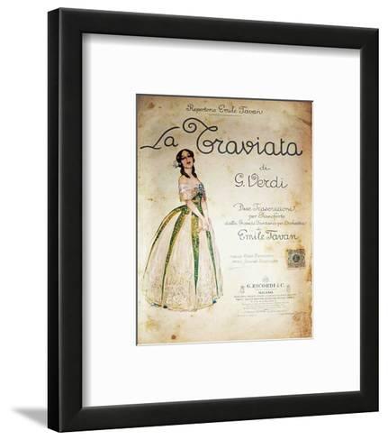 Verdi Opera La Traviata--Framed Art Print