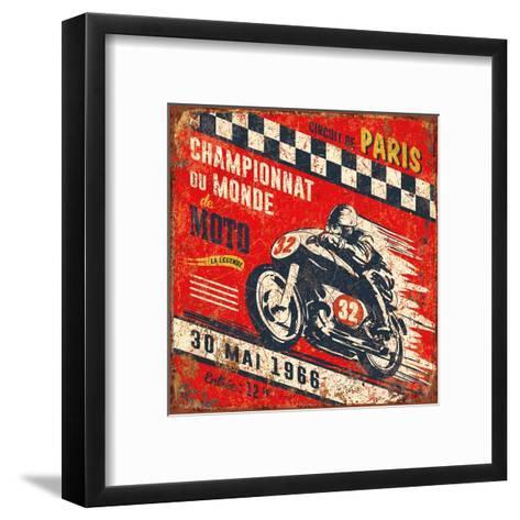 Championnat monde 1966-Bruno Pozzo-Framed Art Print