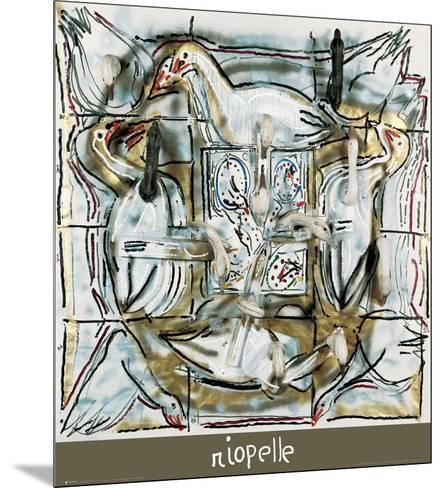 Souflé d'oies-Jean-Paul Riopelle-Mounted Art Print