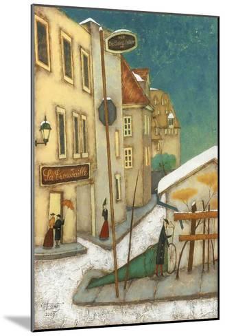 Rue St-Vallier, Québec-Steven Lamb-Mounted Art Print