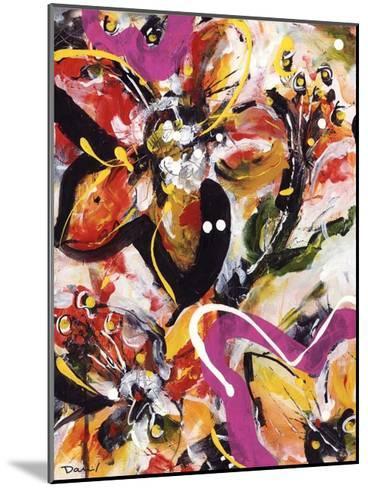 Étude Fleurs III-Pierre David-Mounted Art Print