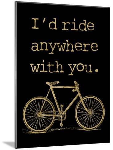 Bicycle I'd Ride Anywhere Golden Black-Amy Brinkman-Mounted Art Print