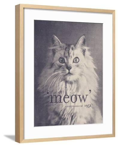 Famous Quote Cat-Florent Bodart-Framed Art Print