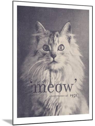 Famous Quote Cat-Florent Bodart-Mounted Art Print
