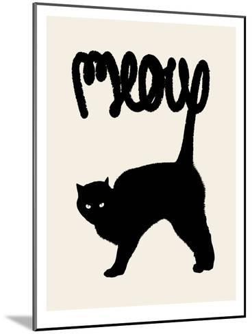 Meow-Florent Bodart-Mounted Art Print